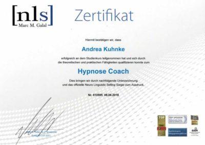 Zertifikat Hypnose Coach