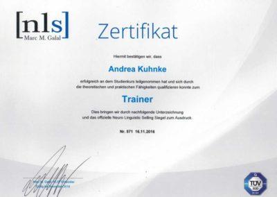 Zertifikat Trainer